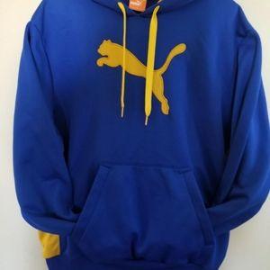 Puma Large Blue & Yellow Hoodie